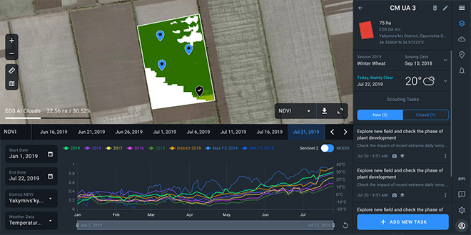 Apply cloud masks to NDVI imagery for more reliable and accurate analysis