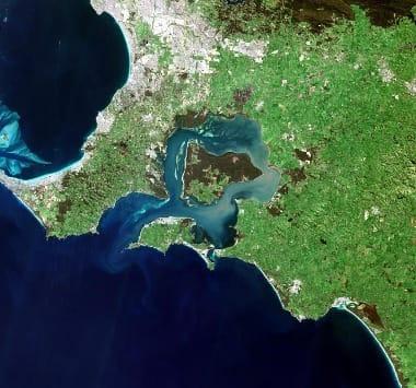 Australia satellite image