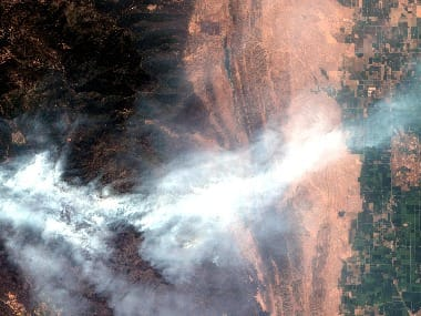 California Fires satellite images