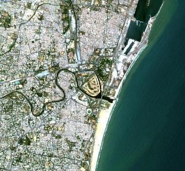 Chennai satellite image