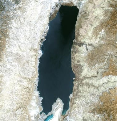 Dead Sea Satellite Image