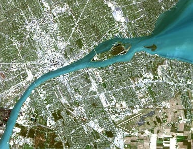 Detroit River Satellite Image