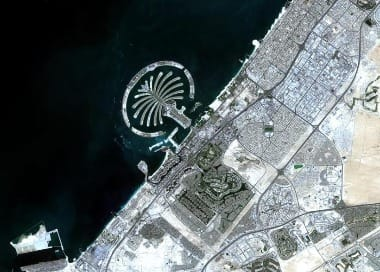 Dubai satellite image