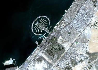 Dubai satellite image
