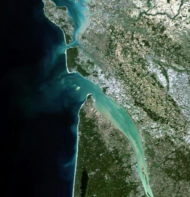 satellite image of france