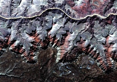 Grand Canyon satellite image
