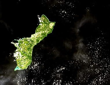 Guam satellite image