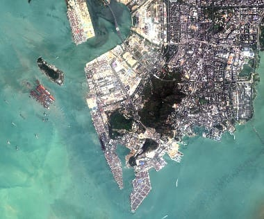 Hong Kong satellite image