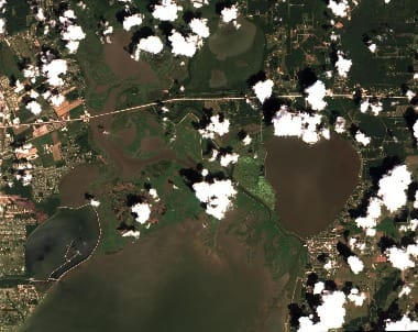 Houston Flooding satellite image