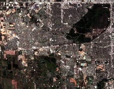 Satellite image houston