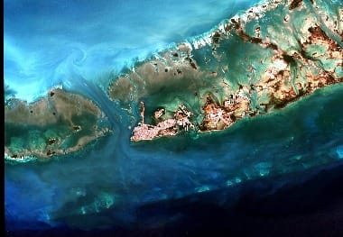 Key West Florida satellite image