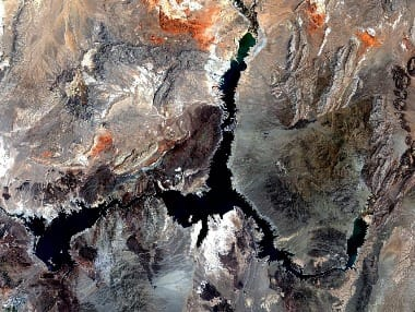 Lake Mead satellite image