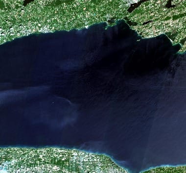 Lake Ontario satellite image