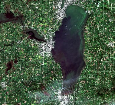Lake Winnebago satellite image