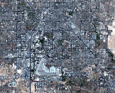 Las Vegas satellite image