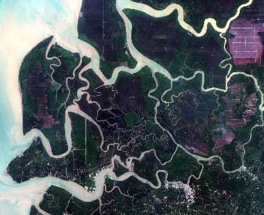 Malaysia satellite image