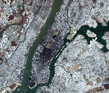 Manhattan satellite image
