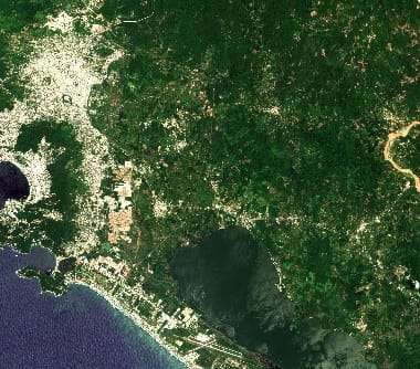Mexico satellite image