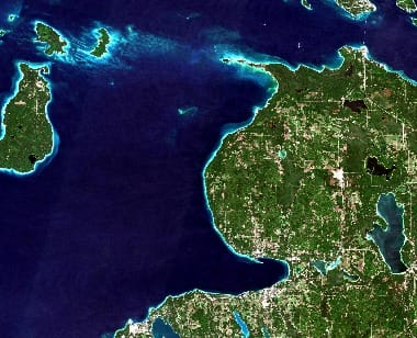 Michigan Satellite Image