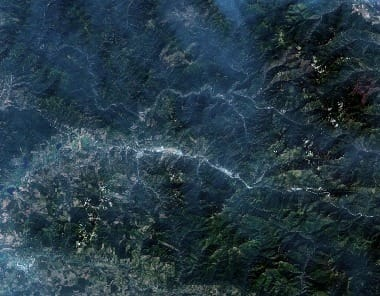 Montana Fires Satellite Image