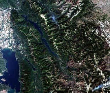 satellite image of montana state
