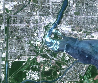 Niagara Falls satellite image