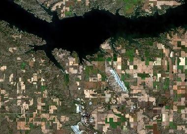 satellite image North Dakota
