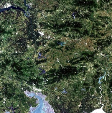 north korea satellite image
