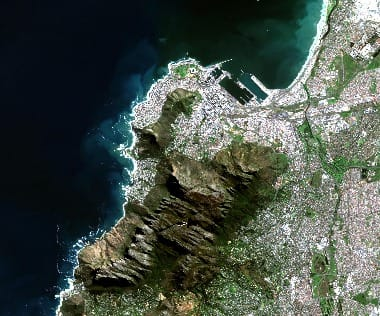 South Africa satellite image