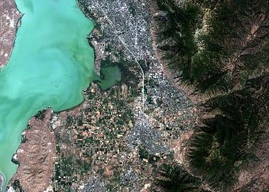 utah satellite image
