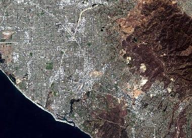 west coast satellite image