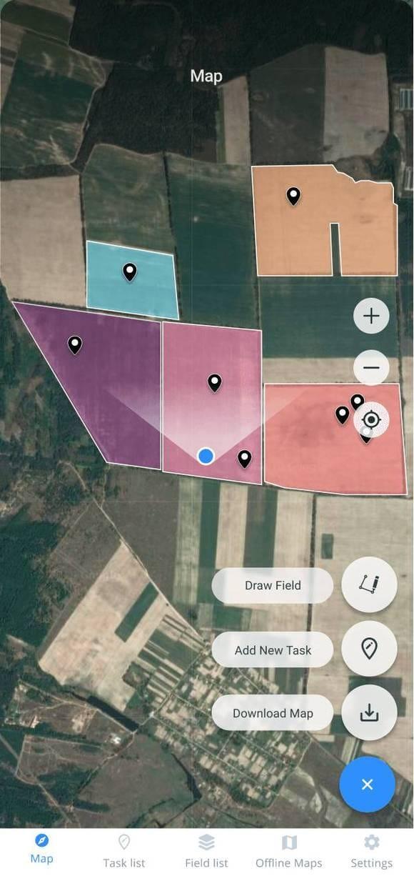 field scouting via Crop Monitoring mobile app