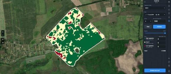 Crop Monitoring zone productivity calculator