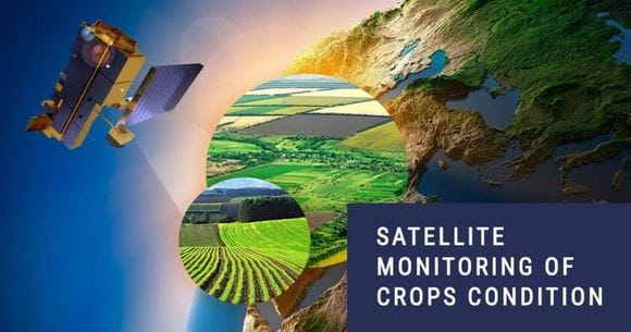 satellite-based monitoring of crops