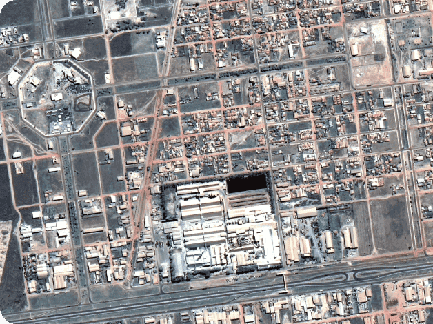 high-resolution image of an urban area