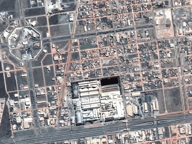 Imagem de alta resolução de uma área urbana